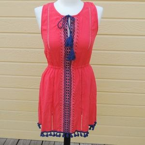 Jack BB Dakota Hibiscus Red Cateleya Dress XS NWT